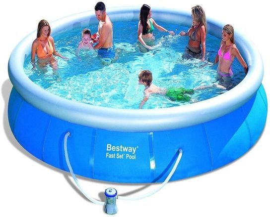 Extrem Bestway Fast Set Round Inflatable Pool 15ft x 36
